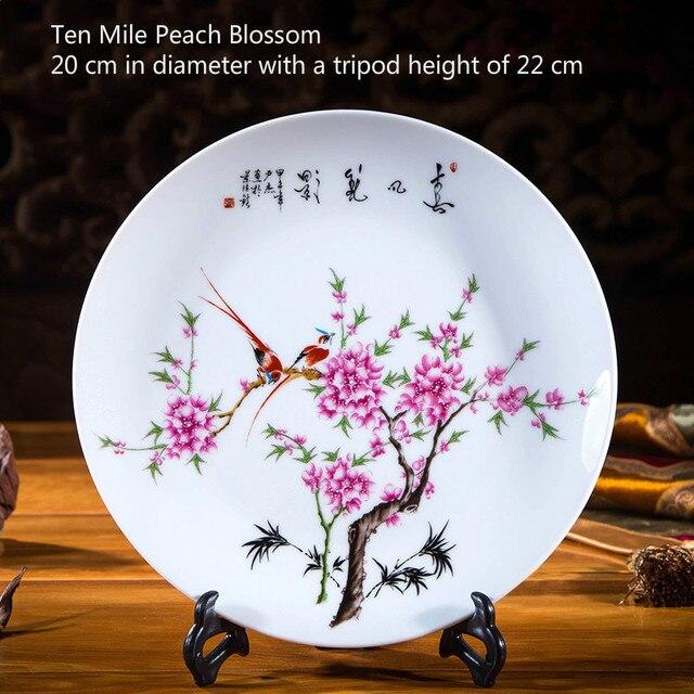 Ceramic Ornament Beauty Figurines Home Furnishing Crafts Chinese Style Porcelain Plates Handicraft Wedding Desktop Decor G $ 6