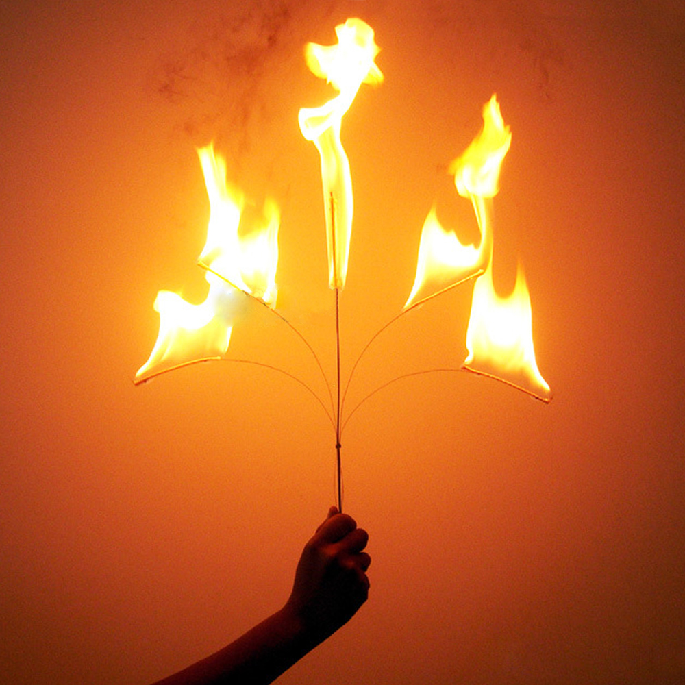 5 Fired Torch Becomes Cane Magic Tricks Fired Torch To Cane Appearing Stick Fork Toras Wand Stage Magic Tricks Illusions