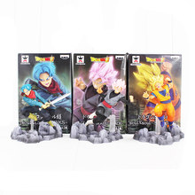 17 cm 6 estilo Super Dragon Ball Son Goku Trunks Goku PVC Figura Collectible Toy Preto(China)