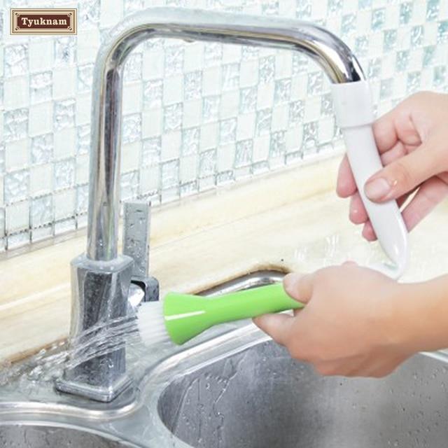 Kitchen Faucet Tap Shower Head Vegetable Fruit Potato Carrot Veggie Scrubber Protect Dirt Clean Brush Water
