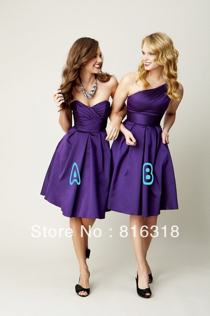 Aliexpress.com : Buy 2014 New Arrival Royal Purple Bridesmaid ...