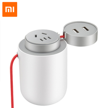 Original Xiaomi Mijia 100W Portable Car Power Inverter Converter DC 12V to AC 220V-240V with 5V/2.4A Dual USB Ports Car Charg