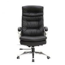 Modern Big & Tall-High Back Cadeira Giratória De Escritório De Couro Real Com Tensão de Inclinação & Móveis de Escritório de Apoio Lombar Cadeira do computador