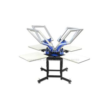 1Set 4 Color 4 Station Screen Printing Machine Comeswith Base Good Quality T-shirt Printing Machine недорого