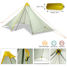 Pagoda Ultralight Outdoor Camping Tent Throwing Pop Up Waterproof Hiking Professional 20D Silnylon Rodless