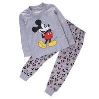 Hot Selling Baby Boys Girl Pajama Set Cute Cartoon Long Sleeve Pijamas Kids Mic Key Homewear