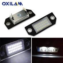 OXILAM 2Pcs Nessun Errore Auto LED Luci Della Targa di immatricolazione Per Ford Focus 2 C-Max Accessori Numero di Targa lampada Auto