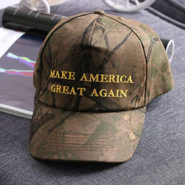 b03d897ac placeholder 1PC Unisex Adjustable Republican Donald Trump MAKE AMERICA  GREAT AGAIN Camo Cotton Cap Hat Presidential Candidates