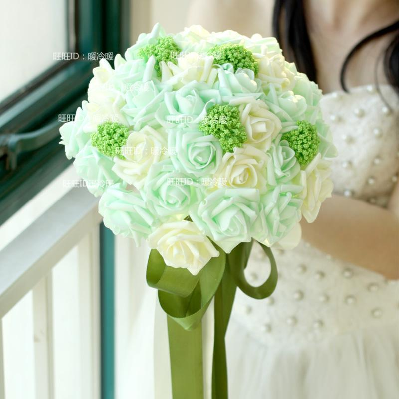 Bride Holding Flower Wedding Bouquet Fresh Wedding