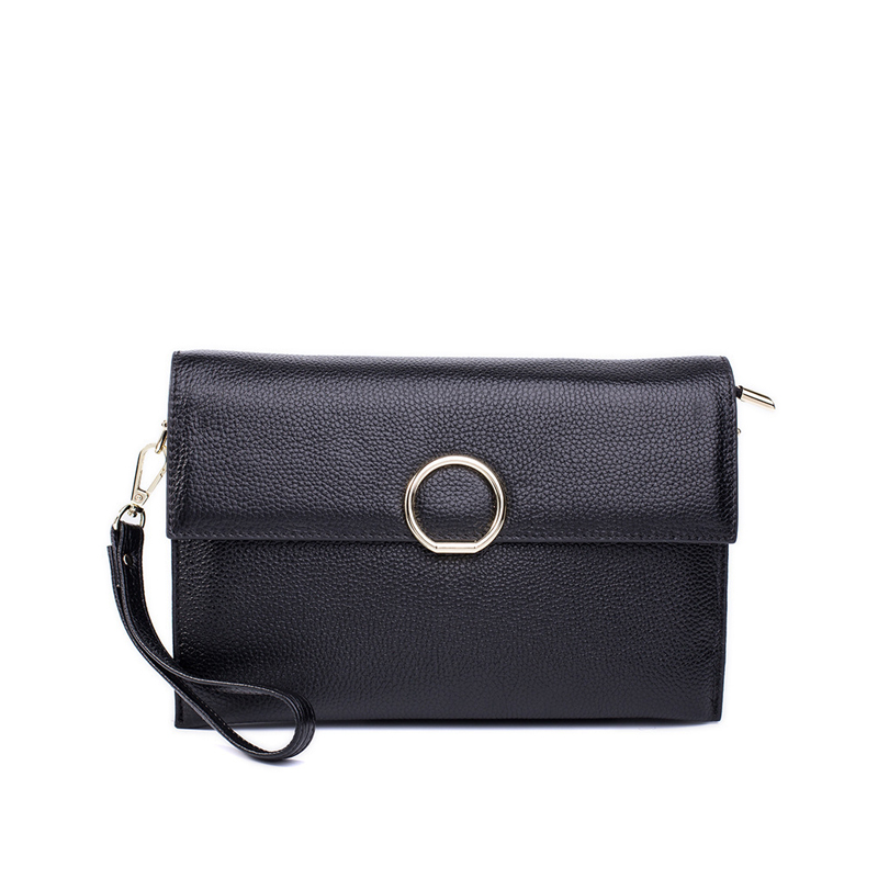4fe50a9917d US $27.99 48% OFF|Fashion Women's Messenger Bags Wrist Strap Phone Clutch  Bag Genuine Leather Bag Small Ladies Shoulder Bag Flap Purse Handbag-in ...