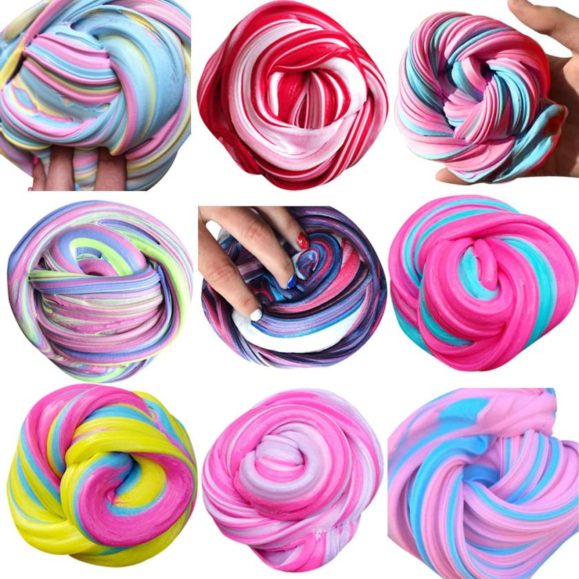New Slime Novelty Polymer Clay Slime DIY Diamond glint Rubber Mud Slime Putty Scented Tub Stress Relief Fluffy Slime Antistress
