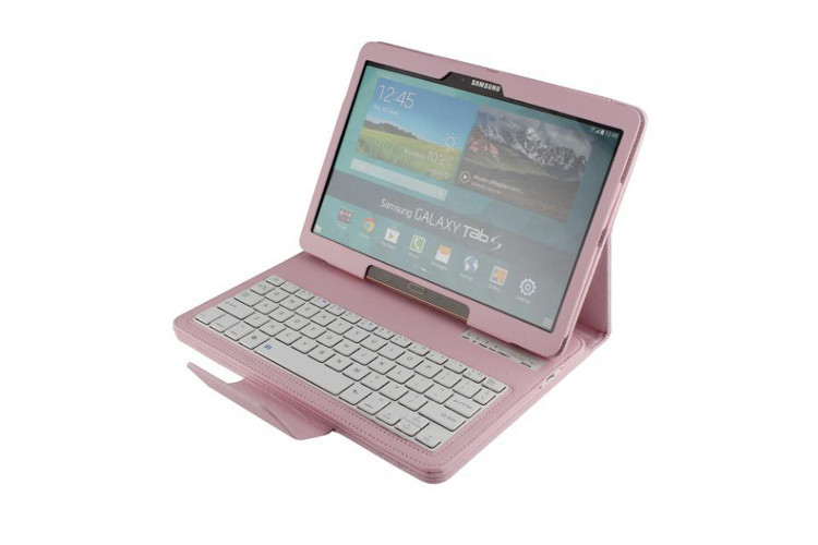 For Samsung Galaxy Tab S 10.5 inch Tablet T800 T805 2-in-1 Removable Wireless Bluetooth ABS keyboard Leather Stand Case Cover flamingo flamingo босоножки розовые