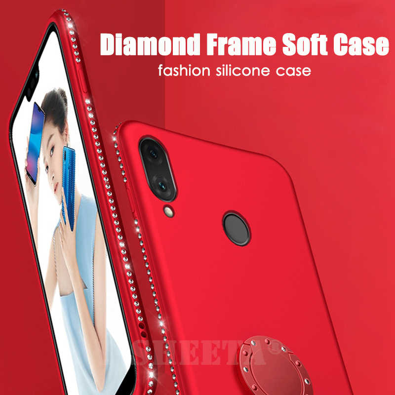 3D Diamond 360 Degree Rotating Ring Holder Plating Shining Soft TPU Glitter Bling Case for OPPO F7 A37 A5 A3S A83 R7 Plus R7S