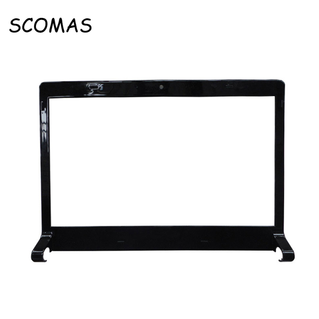 SCOMAS Laptop LCD Front Cover Front Bezel B Cover B Case for Dell Studio 1555 1557 1558 Black Screen Sliver Notebook Shell