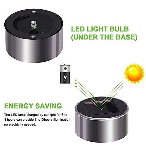 luzes solares ao ar livre movido a