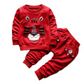 2017 New Baby Boys Girls Suit Cotton clothing Lion T shirt + Pants 2pcs/sets Children Spring Autumn Clothes Set