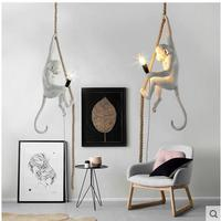 1PC Art Monkey Lamp Nordic Creative Pendant Lights Personality Retro Industrial Restaurant Bedroom Coffee Shop Lamp