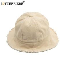 1896fec7 BUTTERMERE Cotton Fishing Hat Children Summer Casual Off-white Bucket Hat  Boys Girls Bucket Caps Spring Kawaii Fashionable 2019