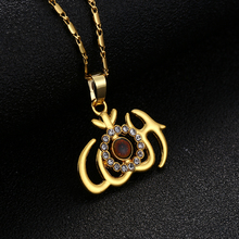 Gold/Silver New Muslim Religious Totem Islamic Allah Sign Symbol Pendant Necklace Jewelry Womens Commemorative Gift