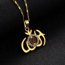 Złoty/srebrny nowy muzułmanin religijny Totem islamski Allah znak Symbol naszyjnik biżuteria damska pamiątkowy prezent