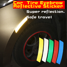 Car tyre Eyebrow Stickers Universal Safety Warning Mark Reflective Tape Auto Exterior Motorcycle Bike Helmet speedwow 46m 1cm car reflective tape sticker auto motorcycle bike luminous strip whole body decoration safety warning stickers