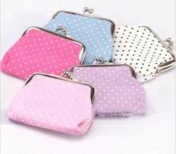 Новый горошек печати монетки кошелек Для детей дамы небольшой мешок монет