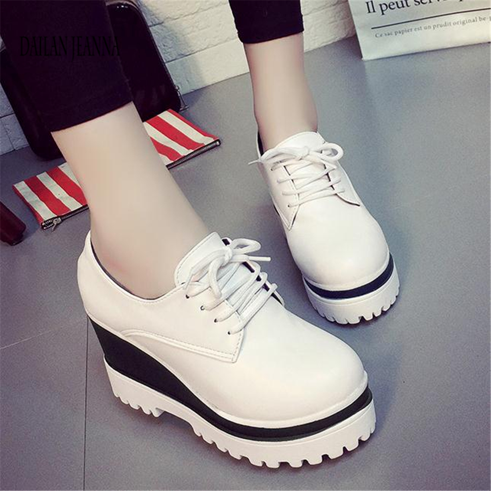 Image 4 - Spring 2018 new single shoe womens muffin shoes womens shoes high inside the thick solesWomens Pumps   -
