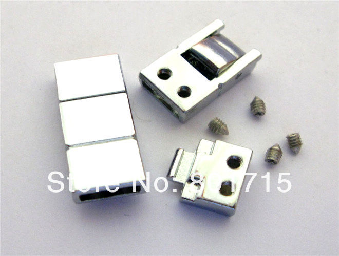 wholesale 20pcs zinc alloy 2 Section Clasp Internal Dia.:8mm(Fit 8mm band)DIY Charms Fittings Accessory as gift