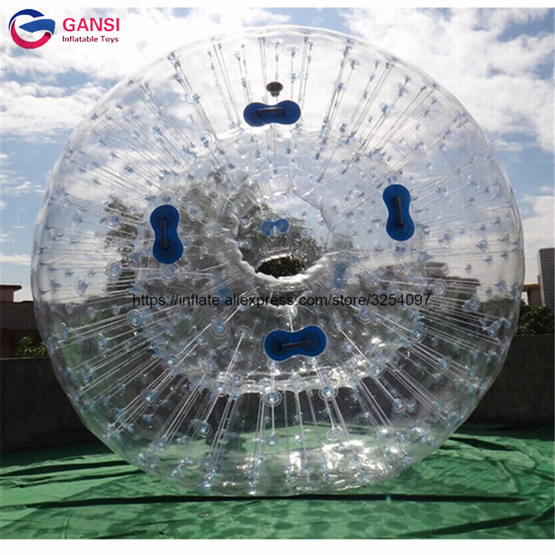 2.5m diameter inflatable clear water zorbing ball, 1.0mm PVC inflatable zorb ball for sale free shipping 3m pvc inflatable playground zorb ball for kids human hamster ball grass zorbing ball durable zorb ball