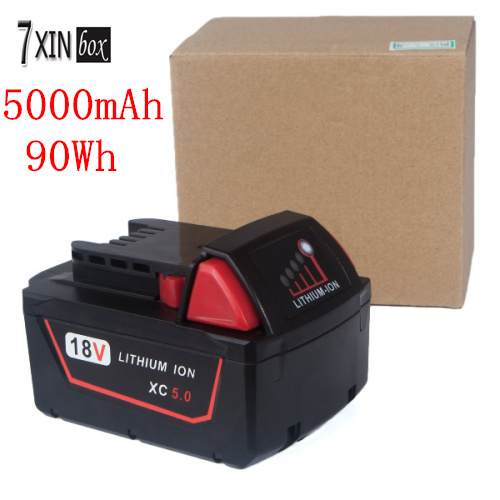 5000mAh 90WH 18V 5 0 Li ion battery for MILWAUKEE 48 11 1850 M18 XC 48