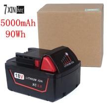 5000 мАч 90WH 18 В 5.0 литий-ионный аккумулятор для Milwaukee 48-11-1850 M18 XC 48-11 -1820 48-11-1840 48-11-1820 Мощность инструмент Батарея
