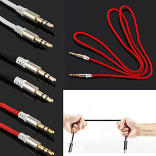 3.5mm To 3.5mm Audio Cable Aux Braided 1mCable For Car For iPhone 6 6Plus 5 For Samsung For Xiaomi Speaker