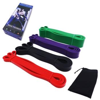 фитнес резинки 208 см резинки для фитнеса спортивные резинки фитнес резинки набор пулл-up лента эластичная фитнес-резинка петля для растяжени...