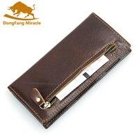 Long Design Men Wallets RFID Cash Holder