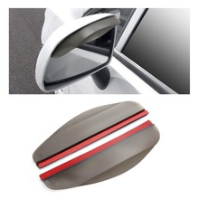 2 шт. ПВХ автомобильная наклейка на зеркало заднего вида дождь брови уплотнитель авто зеркало дождь щит тент крышка Черный протектор