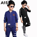 A15 Kids Clothes Set Toddler Boys Clothing Children's Sports Suits Spring Autumn 2017 Casual Kids Tracksuit Set Age 8 12 14 Year
