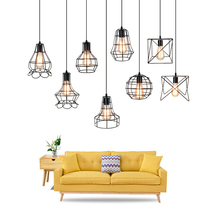 9 Small cage Vintage Iron Pendant Light Industrial Loft Retro Droplight Bar Cafe Restaurant American Country Style Hanging Lamp недорго, оригинальная цена