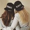 BLONDIE BROWNIE Embroidery Lovers Snapback Hats Acrylic Women Gifts For Her Girlfriends Baseball Caps Hip-Hop Adjustable Gorras