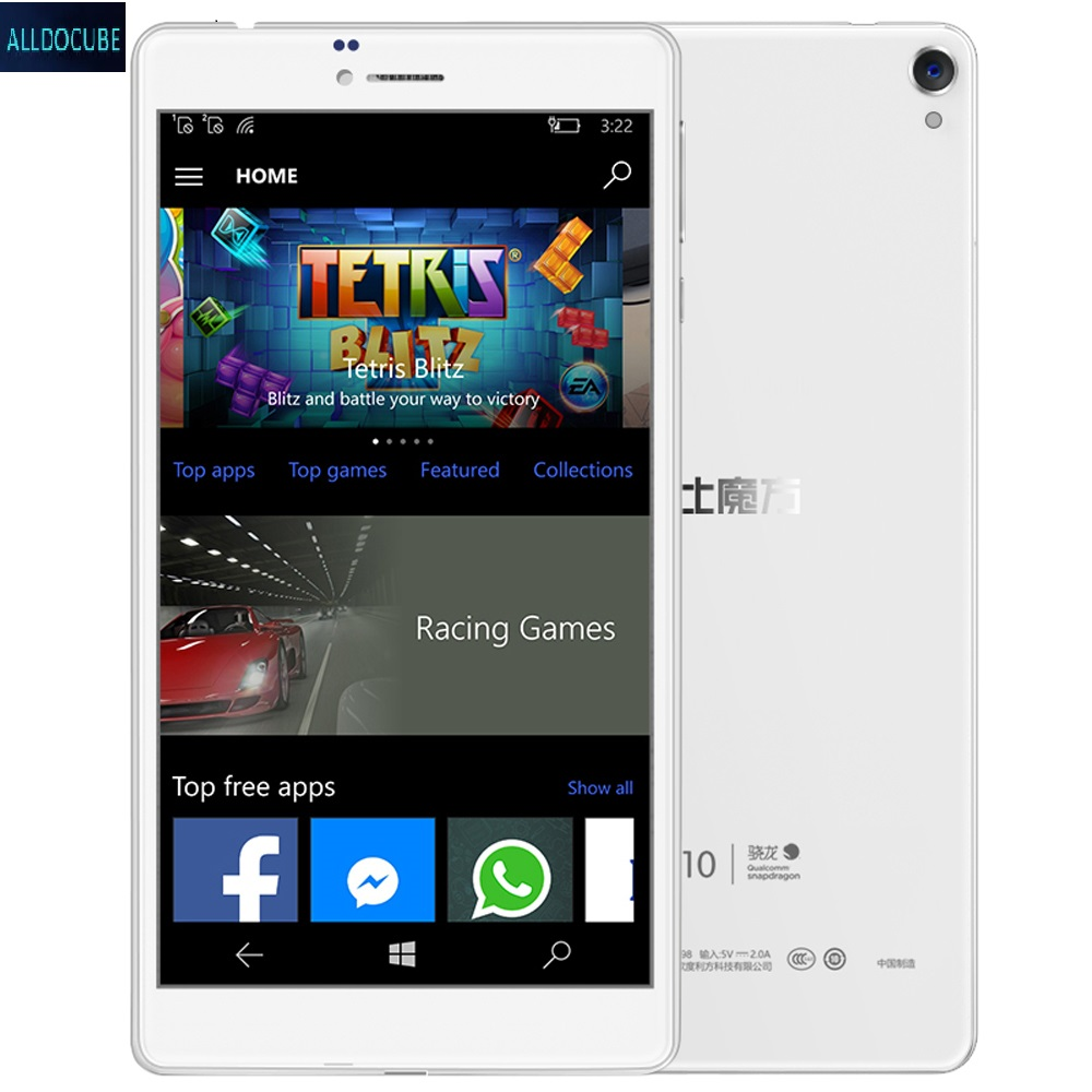 ALLDOCUBE 6.98 inch Tablet 4G Phablet Window 10 Mobile MSM8909 Quad Core 1.3GHz 2 16GB 5.0MP Rear Camera IPS Screen WiFi OTG GPS