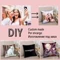 DIY Foto Custom Design Print Gemaakt Kussensloop Zachte 2 Sides Gedrukte Aangepaste Kussen voor Terug Stoel Rectangulart Dropshipping