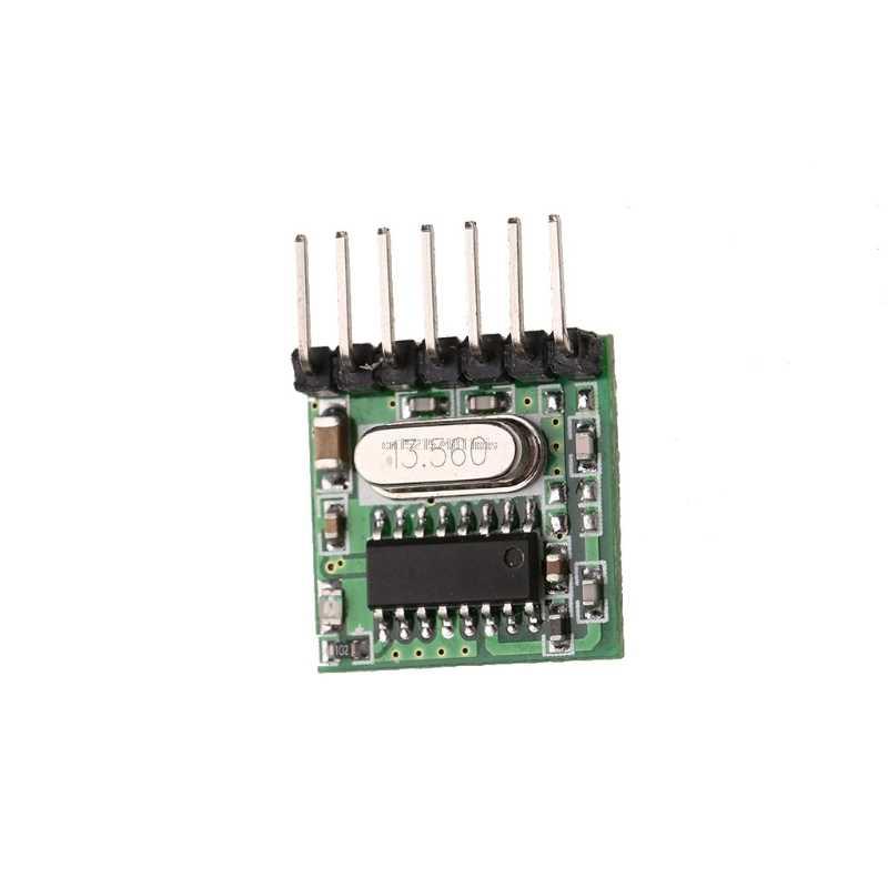 2018 ใหม่ Mini Wireless 433 MHz RF รีโมทคอนโทรล 1527 รหัสการเรียนรู้โมดูลเครื่องส่งสัญญาณ