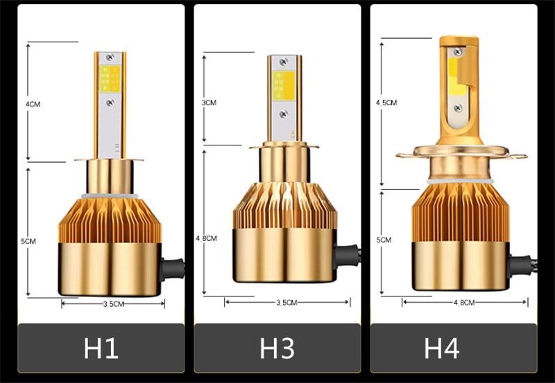 CROSSLEOPARD White Gold Color 12V 10000LM H4 H7 H1 H8 H9 H11 Led Car Headlight 3000K 6000K Dual Color Led Headlamp Auto Bulbs  (11)