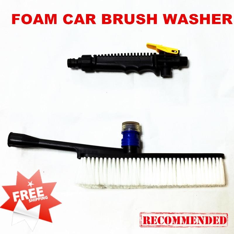 Foam Car Brush Washer with Shampoo Holder Water Gu...