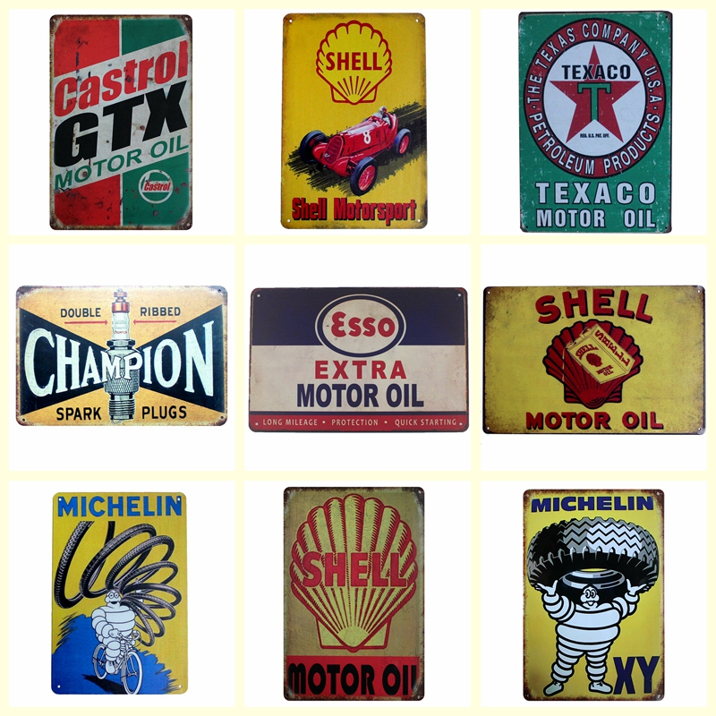 [ Kelly66 ] MOTORSPORT OILS Metal Painting Bar Home Wall Signs Craft 20*30 CM Size DZ1