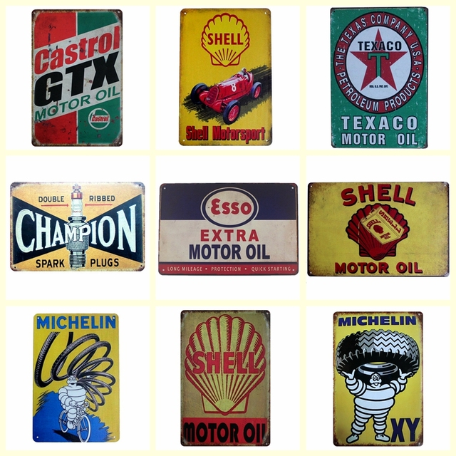 Motorsport Oils Metal Painting Bar Home Wall Signs Craft 2030 Cm Size Dz1