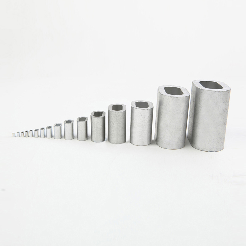 200PCS lot M5 5mm Diameter Oval aluminum clips Aluminum Ferrules Wire Rope Clamps Aluminum Ferrules