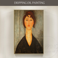 High Quality Wall Artwork Portrait of a Young Woman Amedeo Modigliani Oil Painting on Canvas Famous
