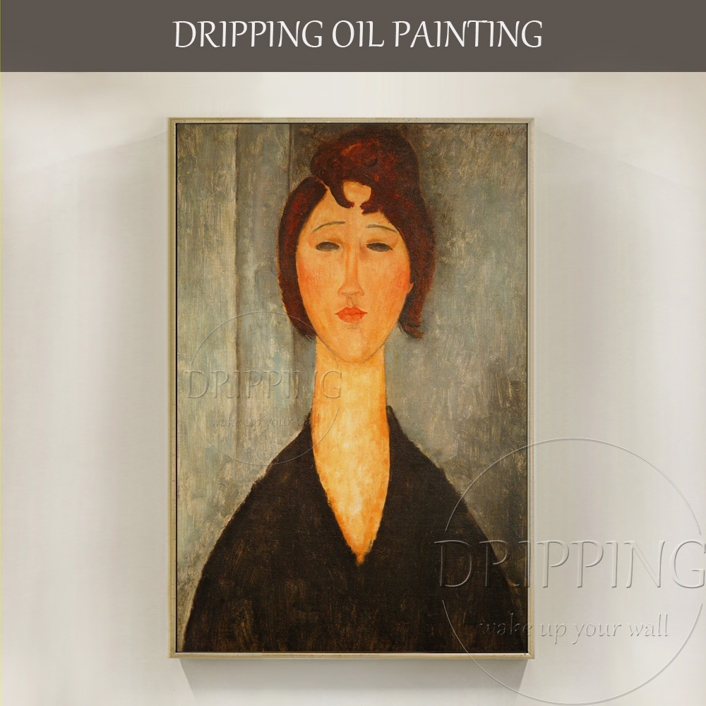 High Quality Wall Artwork Portrait of a Young Woman Amedeo Modigliani Oil Painting on Canvas Famous Young Woman Oil Painting