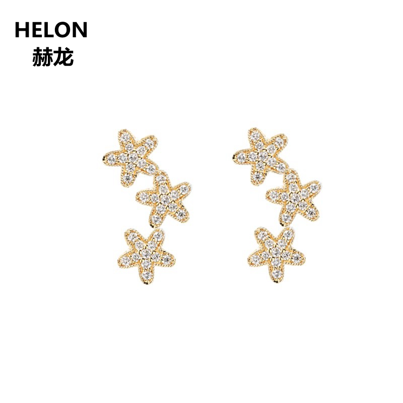 0.23ct SI/H Single Cut Natural Diamonds Stud Earrings Solid 14k Yellow Gold Women Engagement Wedding Earrings Valentine Gift все цены