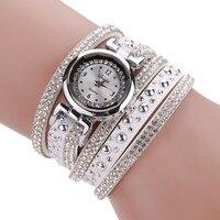 High Quality Vintage Fashion Crystal Band Bracelet Dial Quartz Dress Wrist Analog Watch Relogio Feminino Sep2